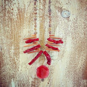 Necklace Scoop Red Coral-2051