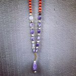 necklace drop purple