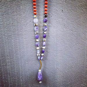 necklace drop purple