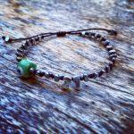 Lucky Charm 21 – Bracelet Silver Green Evil Eye