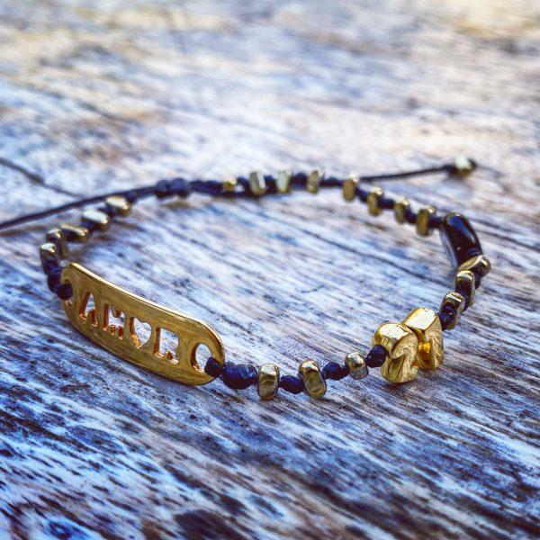 Lucky Charm 21 - Bracelet Amor Gold Hematite & Evil Eye