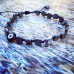 Lucky Charm 21 – Bracelet Black Hematite Evil Eye. Γούρι βραχιόλι με μαύρο Αιματίτη και Evil Eye.